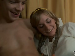 breasty legal age teenager acquires a hard ride