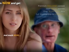 dumped golden-haired fucks old man to calm down