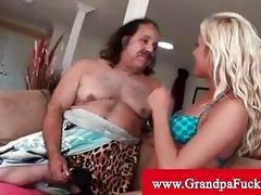 grand-dad jeremy receives his cock sucked