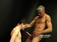 lewd dad stuffing his huge cock down this twinky