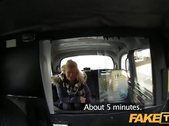 faketaxi juvenile blond takes on old cock