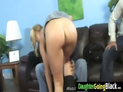 young daughter with fine ass drilled by a black