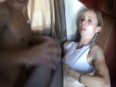 a juvenile dude fucks his mother on a train