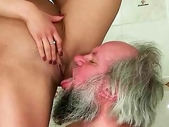 girl punishing and fucking a grandpa