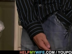 old hubby watches a guy bangs his youthful wife