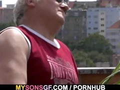 horny daddy bangs his sons gf