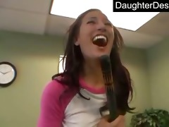 enchanting teen daughter copulates like a pro