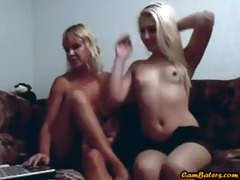 blonde mother and not her daughter play on web