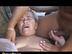 grand-dad and boy fucking fat grandma outdoors