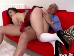older boy spanks nasty schoolgirl