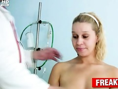 curly pussy blond abased by freaky doctor