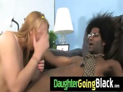 daughter drilled hard by monster black rod 4