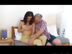 petite tittted babe gets screwed by older man