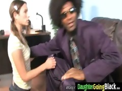 tight young legal age teenager takes big dark