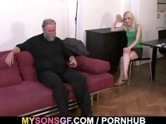 horny dad uses sons girlfriend