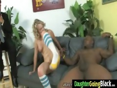 juvenile daughter receives pounded by large black