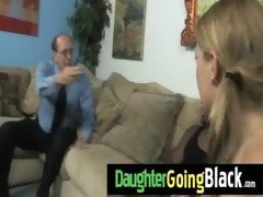 black monster fucks my daughter youthful cum-hole