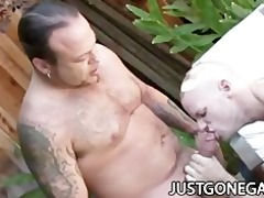 pool lad fucks his boss outdoors