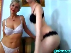 mother and not her daughter teasing on webcam
