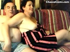 horny grandma and grand-dad having fun