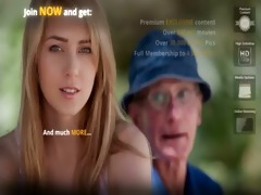 old farmer man receives drilled by blonde hottie