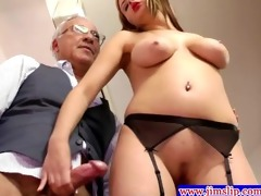 blond euro babes anal joy with old chap