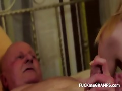 grandpa ben enjoys tasting fresh vaginas
