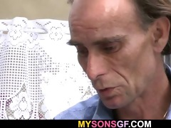 guy finds gf riding his dads pecker