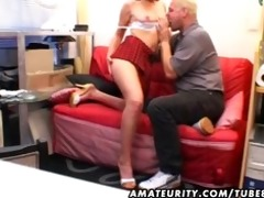 young non-professional girlfriend sucks and fucks