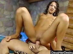 cute teen daughter drilled hard