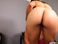 hdvpass horny brunette sabrina taylor sucks off